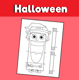 Witch Paper Puppet Template
