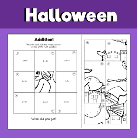 Addition Within 10 Halloween Worksheets