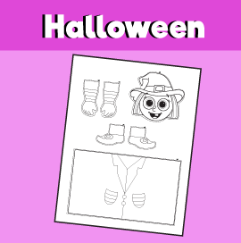witch toilet roll puppet template