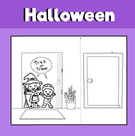 Trick or Treat Opening Door Craft