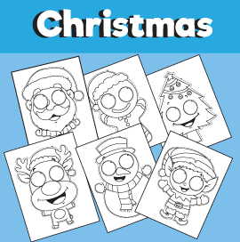 Christmas Printable Masks