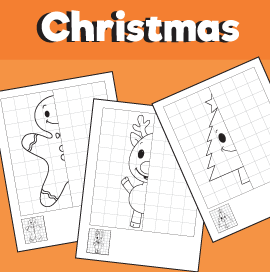 Christmas Symmetry Drawing Worksheets