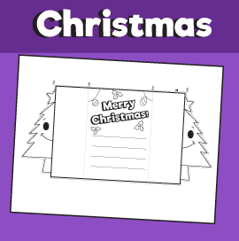 Christmas Tree Folding Card for Christmas