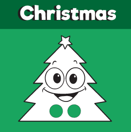 Christmas Tree Printable Finger Puppet