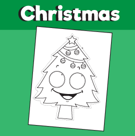 Christmas Tree Printable Mask