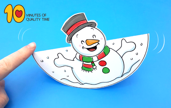 Dancing Snowman Craft