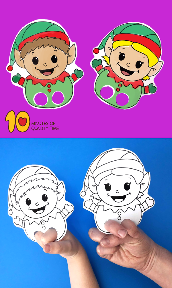 photograph relating to Printable Elves identify Elves Printable Finger Puppets 10 Minutes of Good quality Period