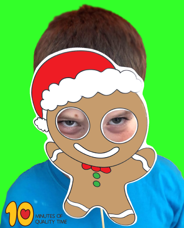 Gingerbread Man Printable Mask 10 Minutes Of Quality Time