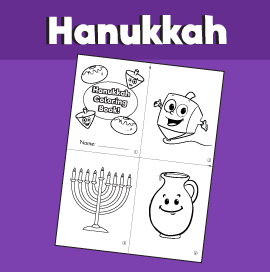 Hanukkah Mini Coloring Book