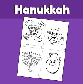 Hanukkah Mini Coloring Book