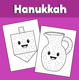 Hanukkah Do a Dot Sheets