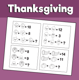 Math Puzzle for Thanksgiving