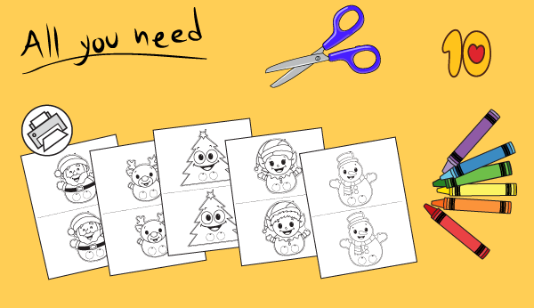 Printable Puppets for Christmas