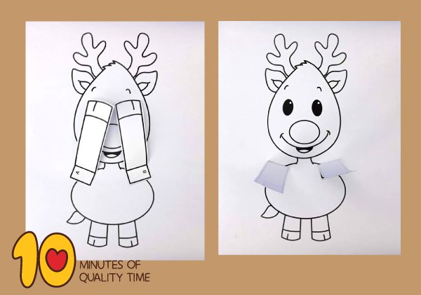 Reindeer Peekaboo Craft