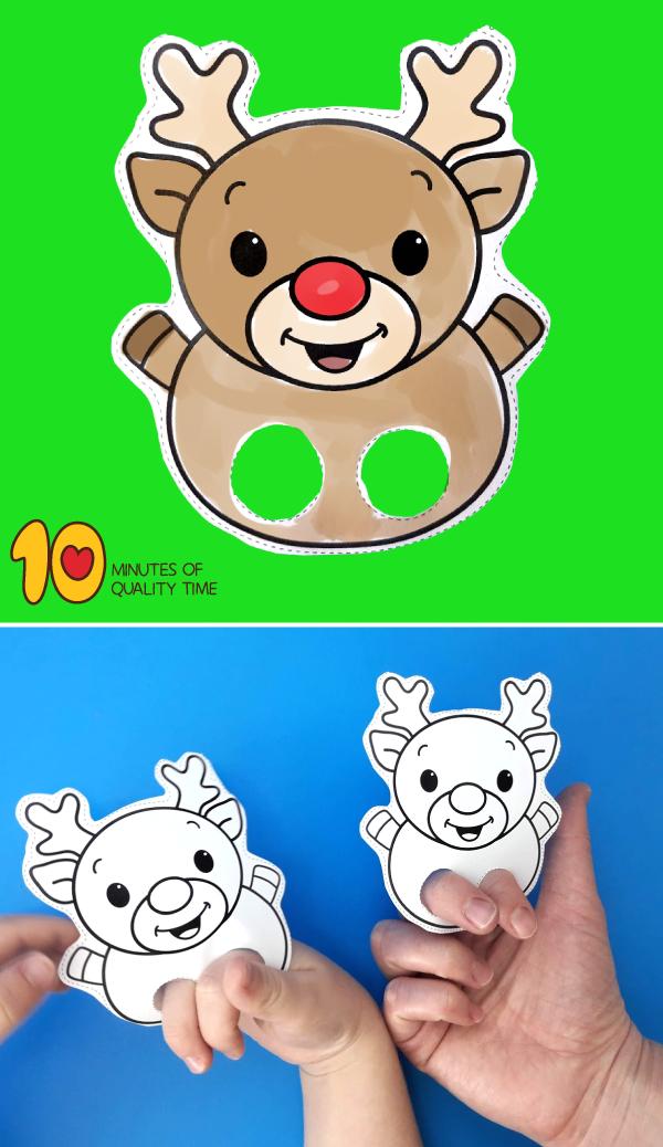 Reindeer Printable Puppet