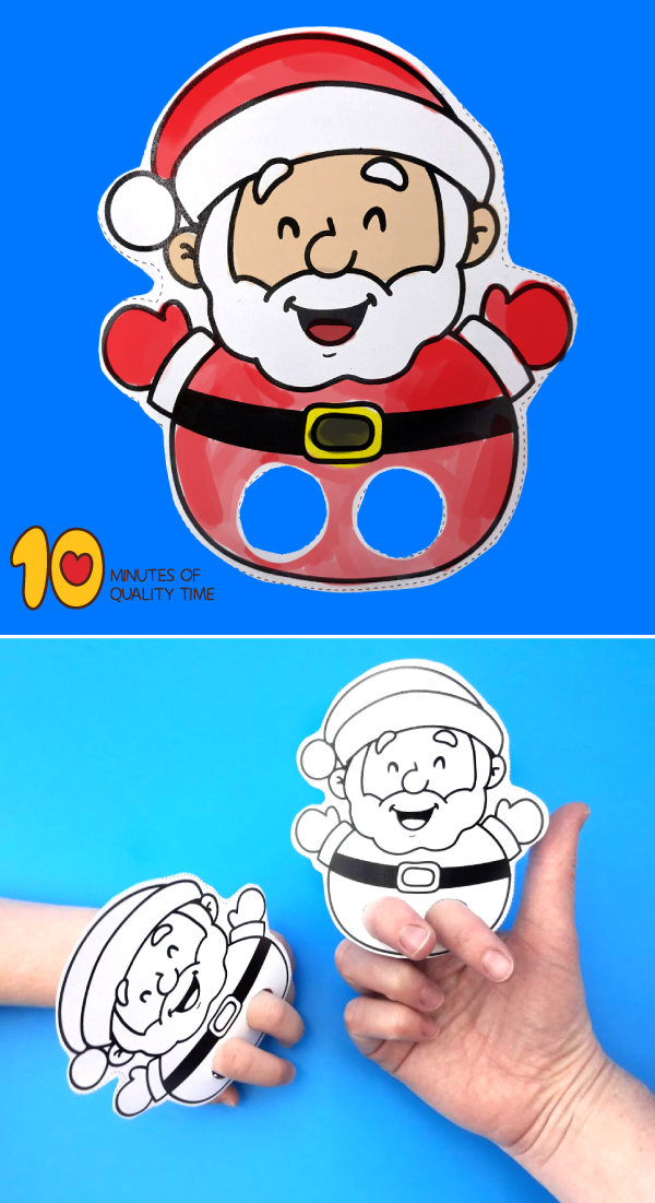 Santa Claus Printable Finger Puppet 10 Minutes Of