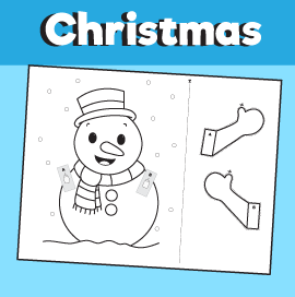 Snowman Peekaboo Craft