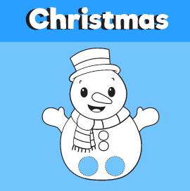 Snowman Printable Finger Puppet