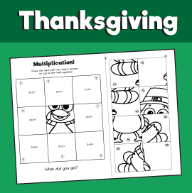 Thanksgiving Multiplication Puzzle