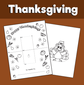 Thanksgiving Pop Up Card Template