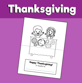 Thanksgiving Printable Card - Cut and Fold