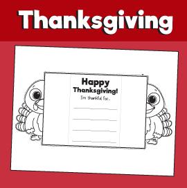 Thanksgiving Printable Surprise Card