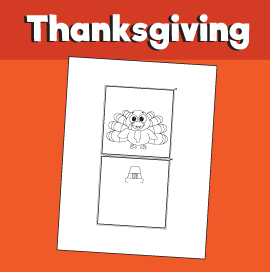 Thanksgiving Optical Illusion Printable Turkey With Pilgrim Hat