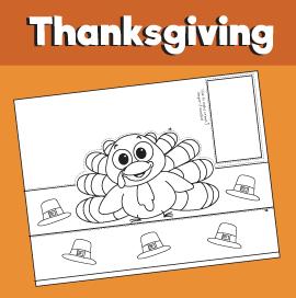 Thanksgiving Turkey Printable Crown