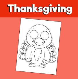 Thanksgiving Turkey Printable Mask