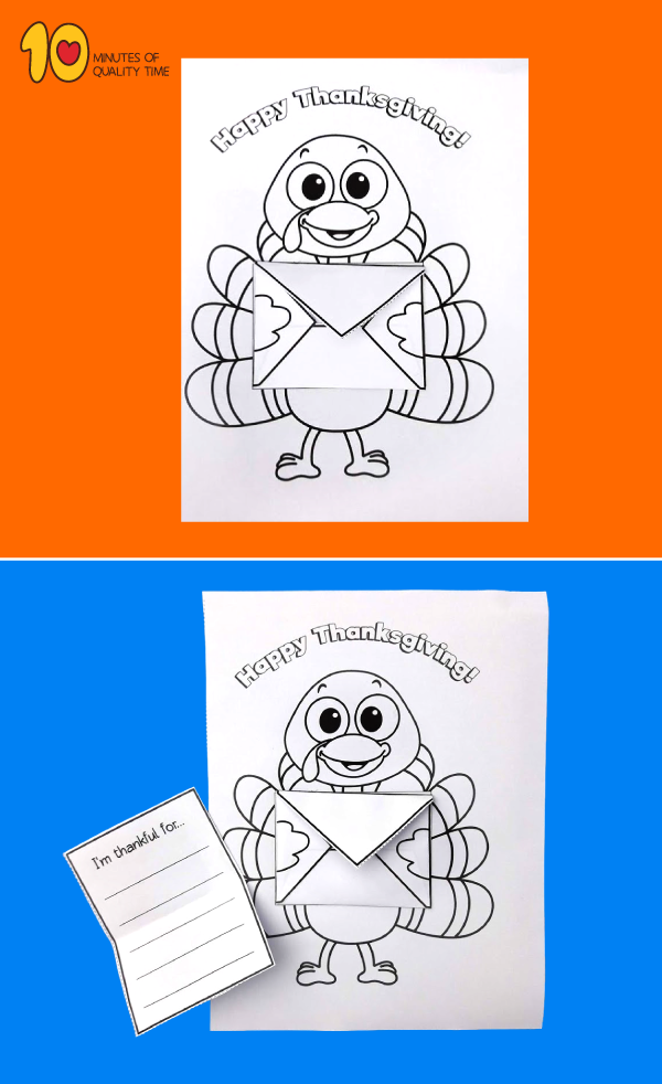 Thanksgiving Card with Cute Turkey
