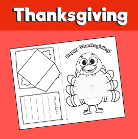 Thanksgiving Turkey With Thankful Letter