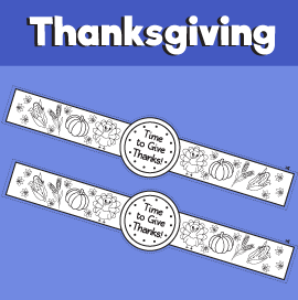 Time to Give Thanks - Thanksgiving Printable Watch