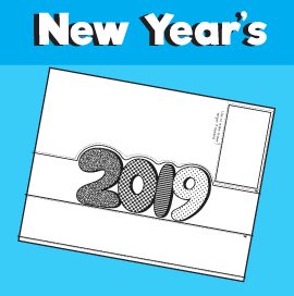2019 New Year Crown Printable