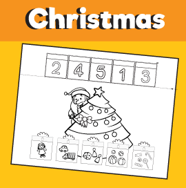 What's Inside the Presents - Christmas Counting 1-5 Printable