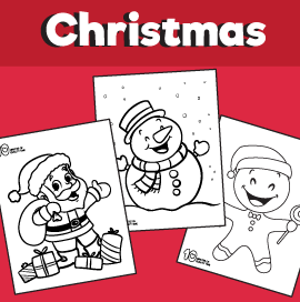 5 Free Christmas Coloring Pages