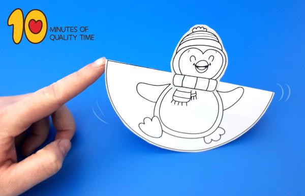 penguin craft printable