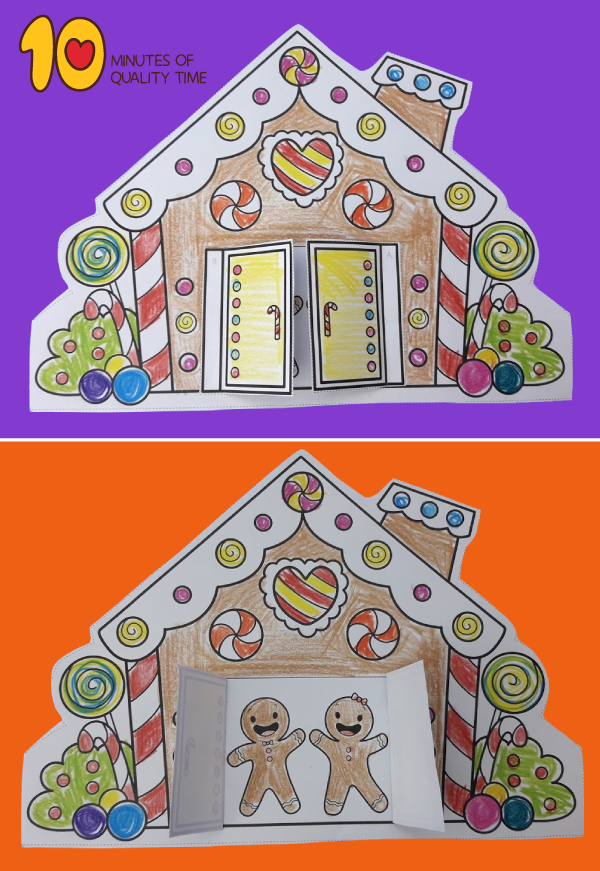 gingerbread house craft preschool