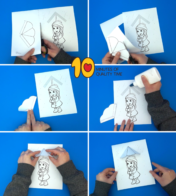 umbrella craft template