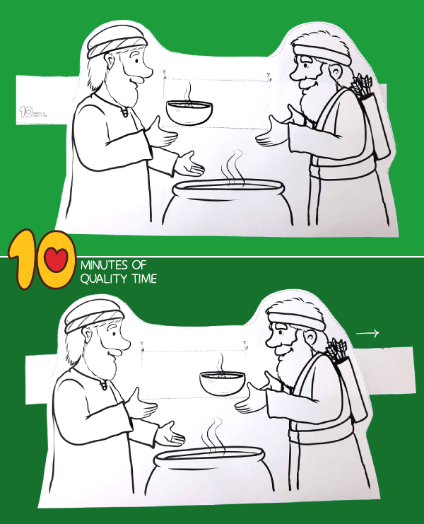 Jacob and Esau Lentil Stew Craft