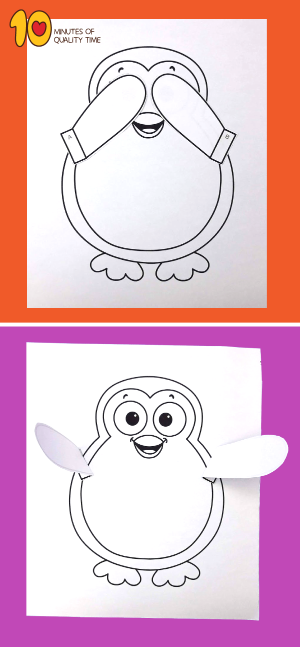 penguin craft template