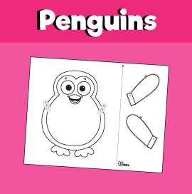 Penguin Peek a Boo Craft