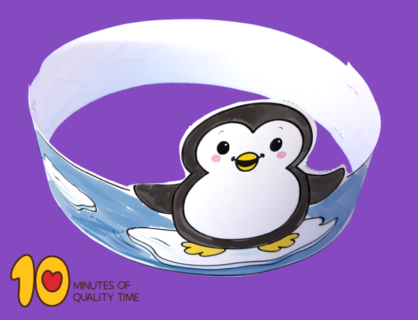 image about Penguin Patterns Printable named Penguin Printable Crown 10 Minutes of Excellent Period