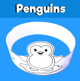 Penguin Printable Crown