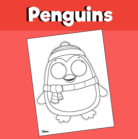 Penguin Printable Mask