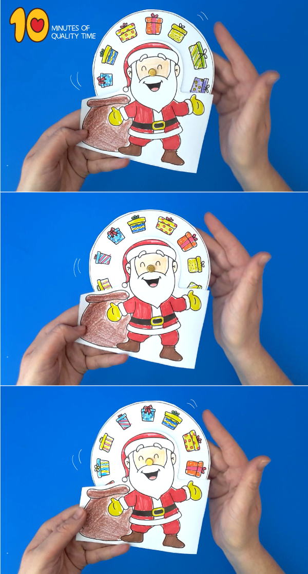 santa claus with gifts crafts to make