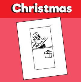 Santa With Gift Optical Illusion