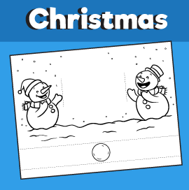 Snowmen Playing With a Snowball