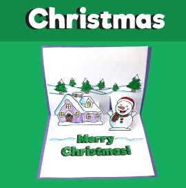 Snowy Christmas Pop Up Card