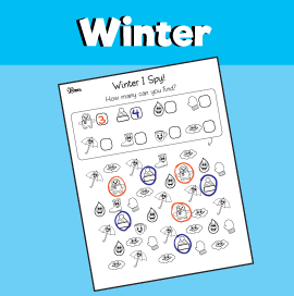 Winter I Spy Worksheet