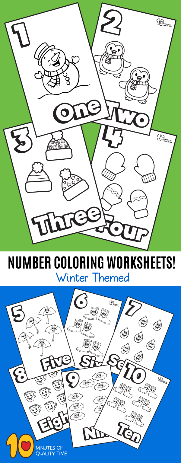 winter counting worksheets for kindergarten